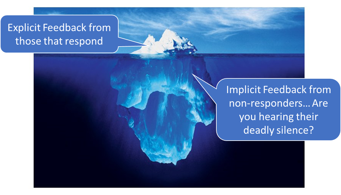 The Iceberg Effect in B2B Customer Feedback/NPS:  Are you engaging those that matter?